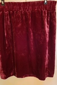 JCrew crushed velvet skirt